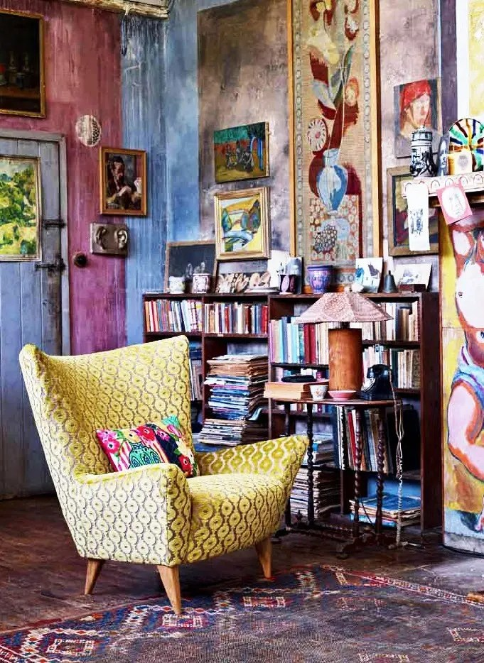 Bohemian Style Decorating Ideas on Bohemian Living Room Decor Ideas  id=91235