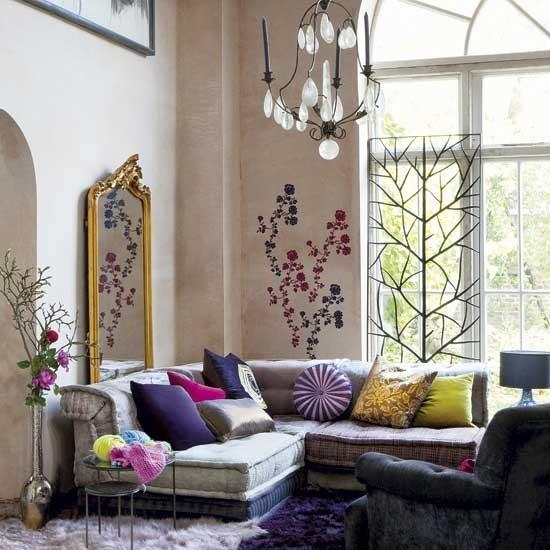 85 Inspiring Bohemian Living Room Designs - DigsDigs on Bohemian Living Room Decor Ideas  id=27822
