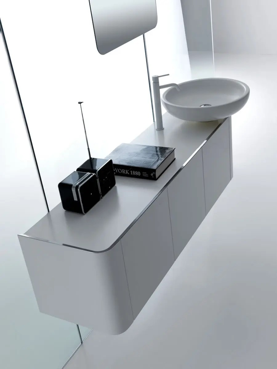 Rounded Bathroom Cabinets With Reduced Depth K08 From