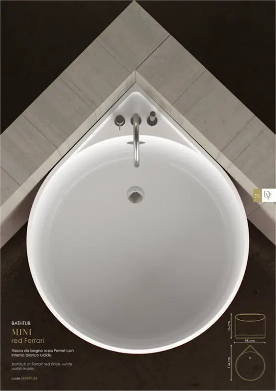 Cool Mini Bathtub Of Fiberglass For Small Spaces DigsDigs
