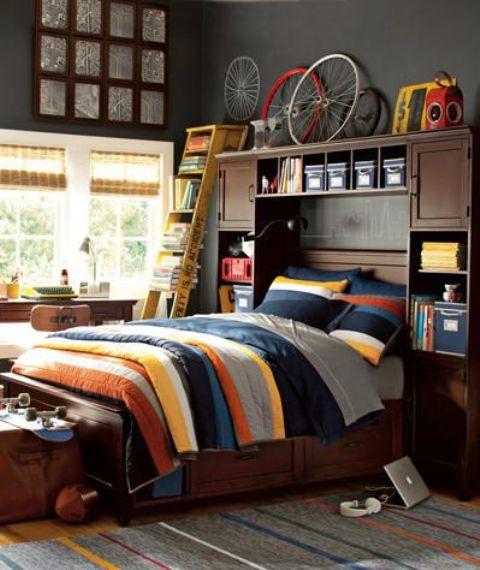 55 Modern And Stylish Teen Boys' Room Designs - DigsDigs on Teenage Boy Room  id=32536
