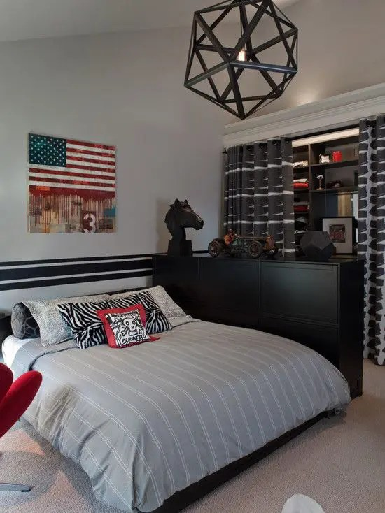 55 Modern And Stylish Teen Boys' Room Designs - DigsDigs on Teenage Room Colors For Guy's  id=61743