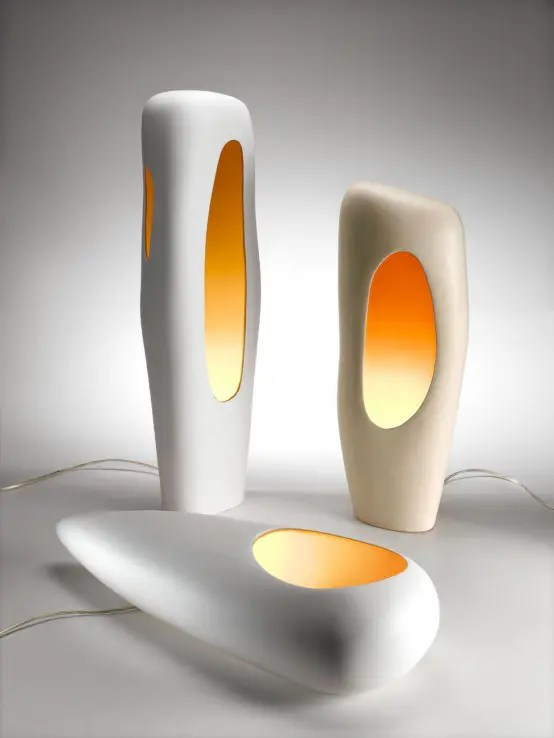 Modern Ceramic Lamps By Mamati DigsDigs
