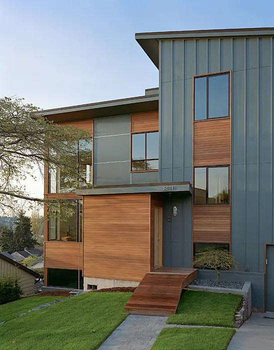 Home Renovations: Modern Remodel Of The Post War Split ... on Modern House Siding  id=65155