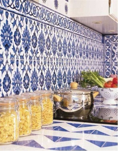 Blue And White Country Kitchen Ideas