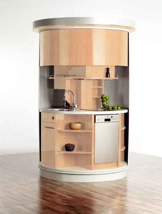 Very Small Kitchen Which Has Everything Needed Circle Kitchen DigsDigs