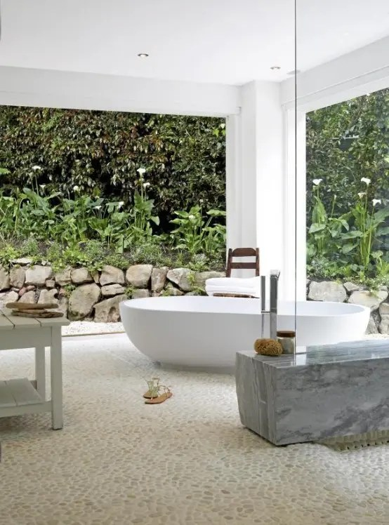 45 Outdoor Bathroom Designs That You Gonna Love - DigsDigs on Backyard Bathroom Ideas  id=19756