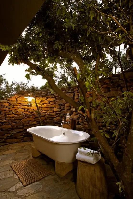 45 Outdoor Bathroom Designs That You Gonna Love - DigsDigs on Backyard Bathroom Ideas  id=84907