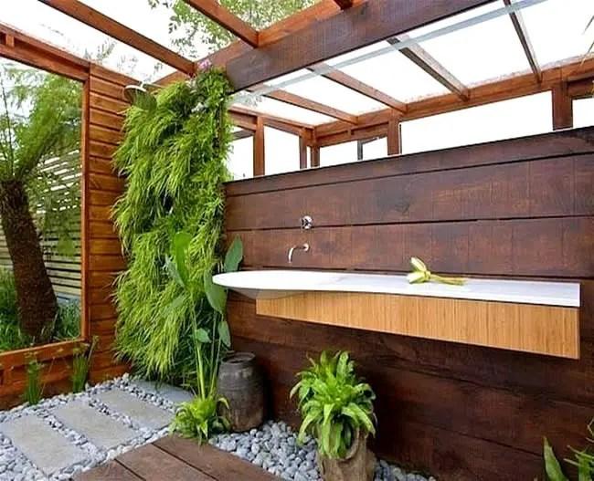 45 Outdoor Bathroom Designs That You Gonna Love | DigsDigs on Backyard Bathroom Ideas  id=75846