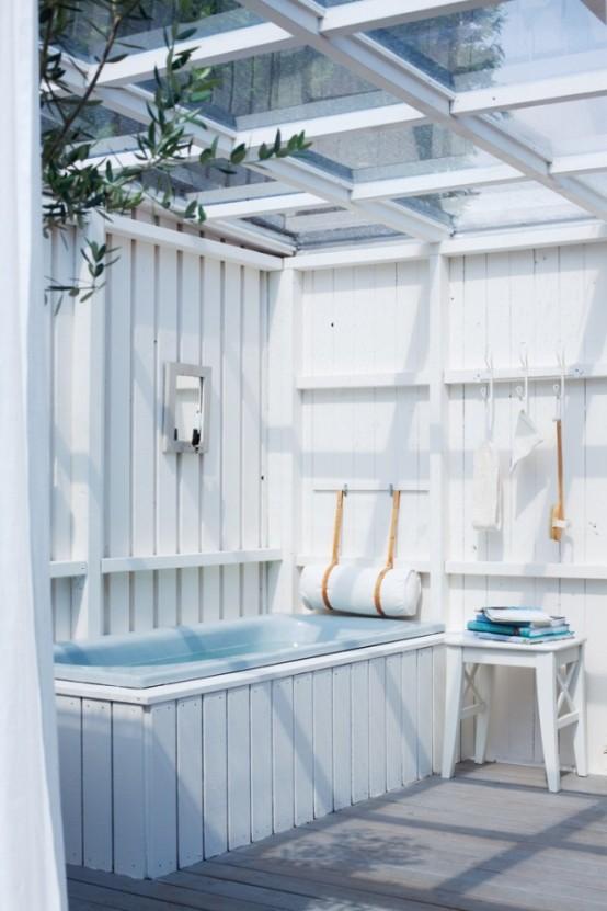 45 Outdoor Bathroom Designs That You Gonna Love - DigsDigs on Backyard Bathroom Ideas  id=45087