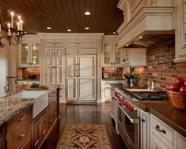 30 Super Practical And Really Stylish Brick Kitchen Backsplashes DigsDigs
