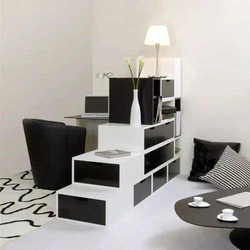 Practical Furniture For Black And White Interior Design By Espace Loggia