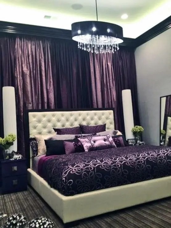 Purple Accents In Bedrooms - 51 Stylish Ideas - DigsDigs on Small:gr1Vspvqs9Y= Bedroom Ideas  id=84150