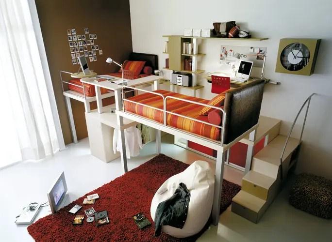 Colorful Teenage Loft Bedrooms by Tumidei - DigsDigs on Teenage:m5Lo5Qnshca= Room Ideas  id=13103