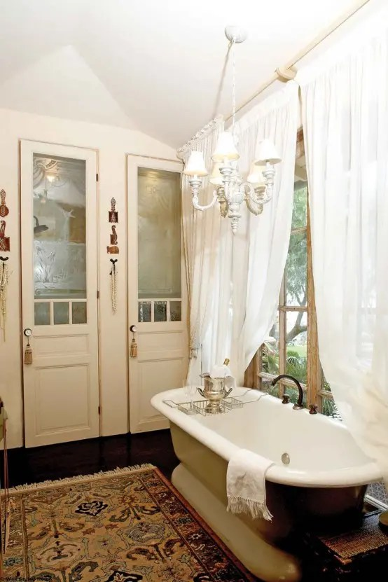 We may earn commission on some of the items you choose to buy. 26 Refined Décor Ideas For A Vintage Bathroom - DigsDigs