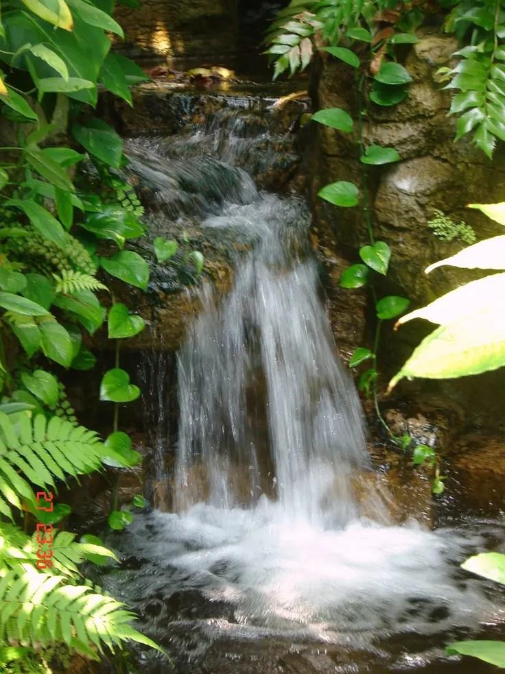 63 Relaxing Garden And Backyard Waterfalls | DigsDigs on Waterfall Ideas For Garden id=80753