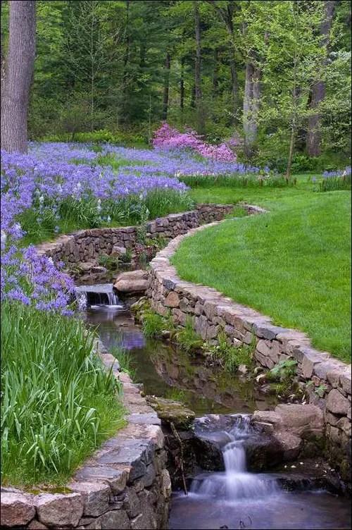 75 Relaxing Garden And Backyard Waterfalls - DigsDigs on Backyard Stream Ideas id=39961