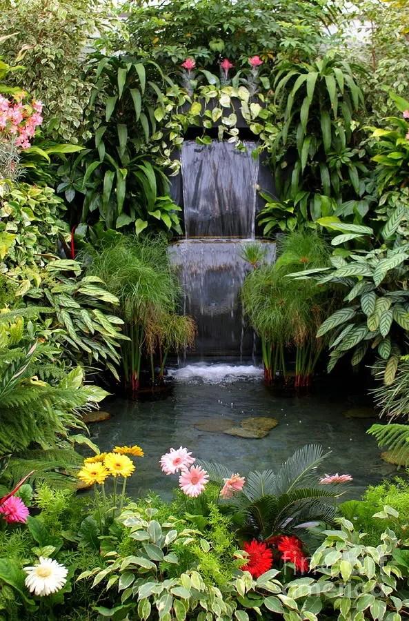 63 Relaxing Garden And Backyard Waterfalls | DigsDigs on Waterfall Ideas For Garden id=77593