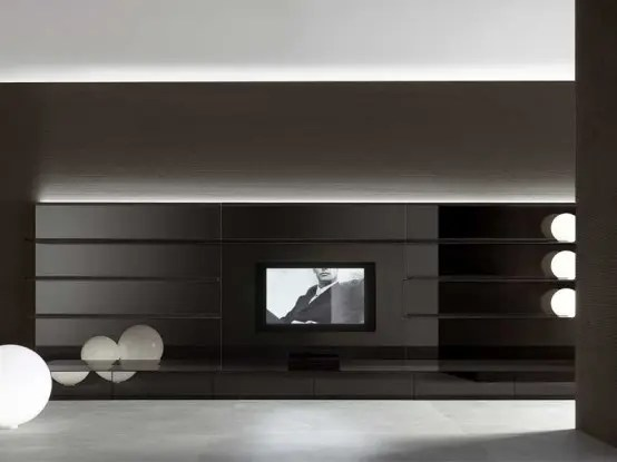 Rimadesio Completely Black Living Room Furniture