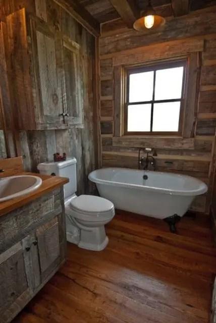 44 Rustic Barn Bathroom Design Ideas - DigsDigs on Rustic:s9Dkpzirpk8= Farmhouse Bathroom  id=77885