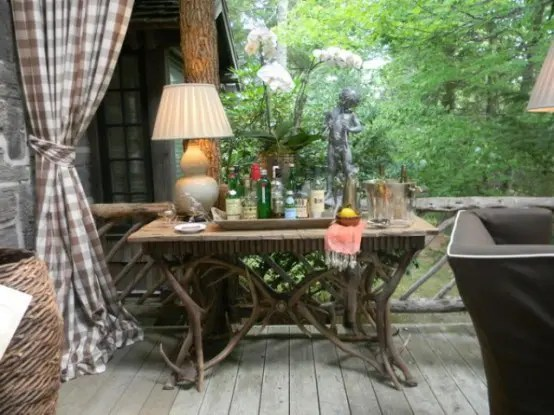 Rustic Porch Design With Hunters Retreat Touches DigsDigs