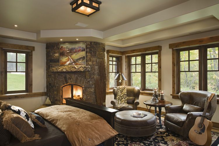 Rustic House Design in Western Style - Ontario Residence ... on Rustic Traditional Decor  id=51481