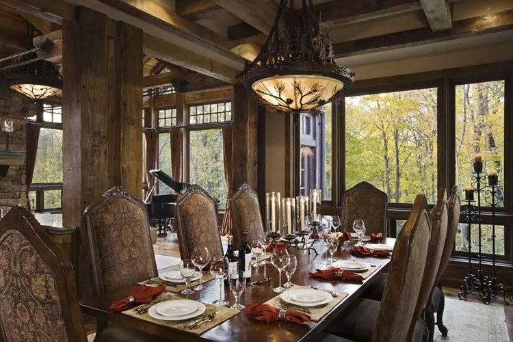 Rustic House Design in Western Style - Ontario Residence ... on Rustic Traditional Decor  id=65068