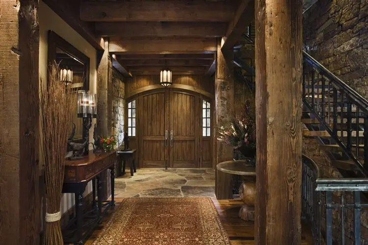 Rustic House Design in Western Style - Ontario Residence ... on Rustic Traditional Decor  id=78022