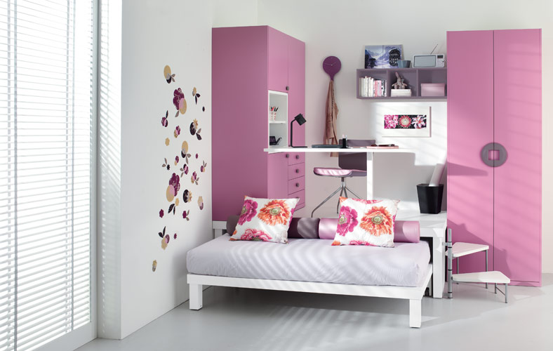 Colorful Teenage Loft Bedrooms by Tumidei - DigsDigs on Teenage Small Bedroom Ideas  id=68933