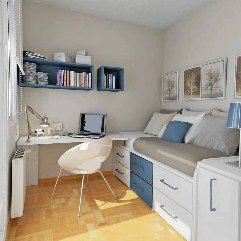 50 Thoughtful Teenage Bedroom Layouts | DigsDigs on Small Bedroom Ideas For Teenager  id=31201