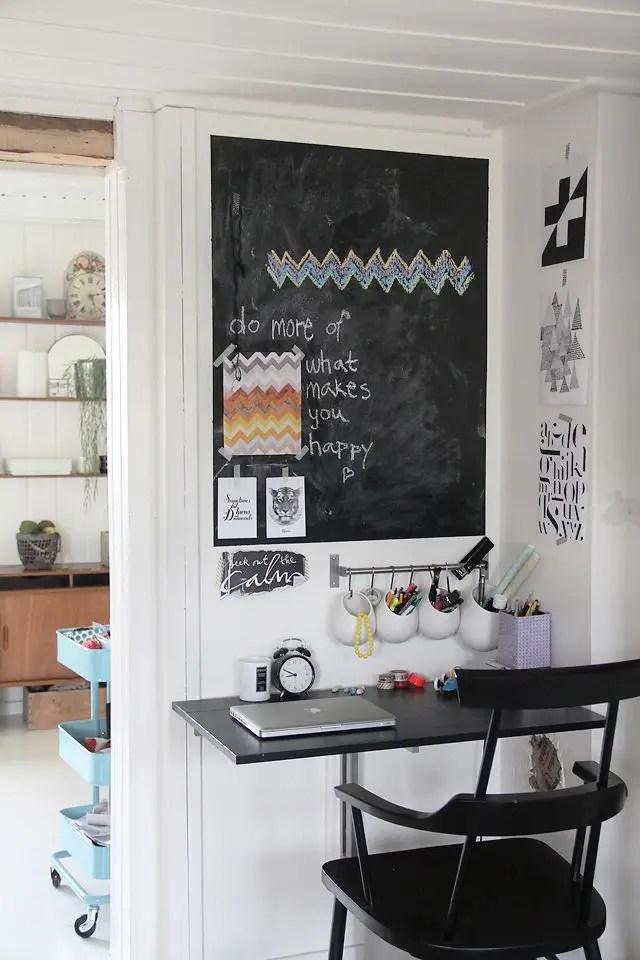 32 Smart Chalkboard Home Office Décor Ideas | DigsDigs on Remodel:ll6Wzx8Nqba= Small Kitchen Ideas  id=31229