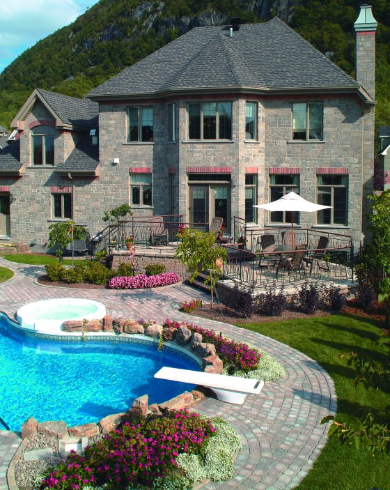 25 Stone Pool Deck Design Ideas | DigsDigs on Pool Deck Patio Ideas  id=30935