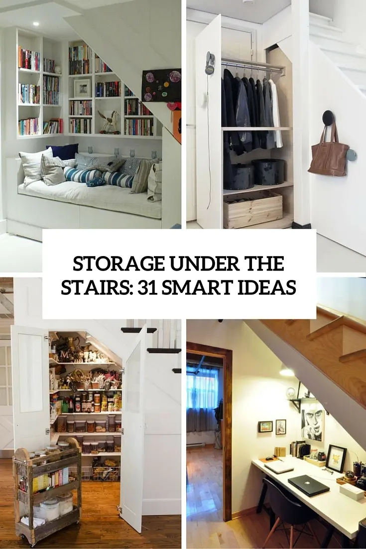 Storage Under The Stairs 31 Smart Ideas Digsdigs | Wardrobe Design Under Stairs | Shoe Rack | California Closets | Shoe | Space | Stairs Storage Solutions