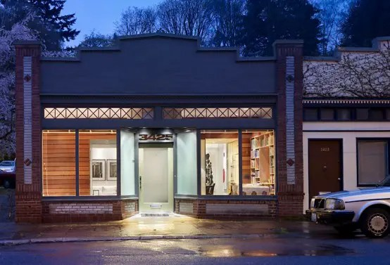 Storefront Remodeled Into Live Work Place With Modern