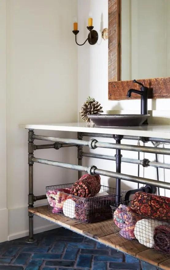 25 Industrial Bathroom Designs With Vintage Or Minimalist ... on Remodel:ll6Wzx8Nqba= Small Kitchen Ideas  id=66544
