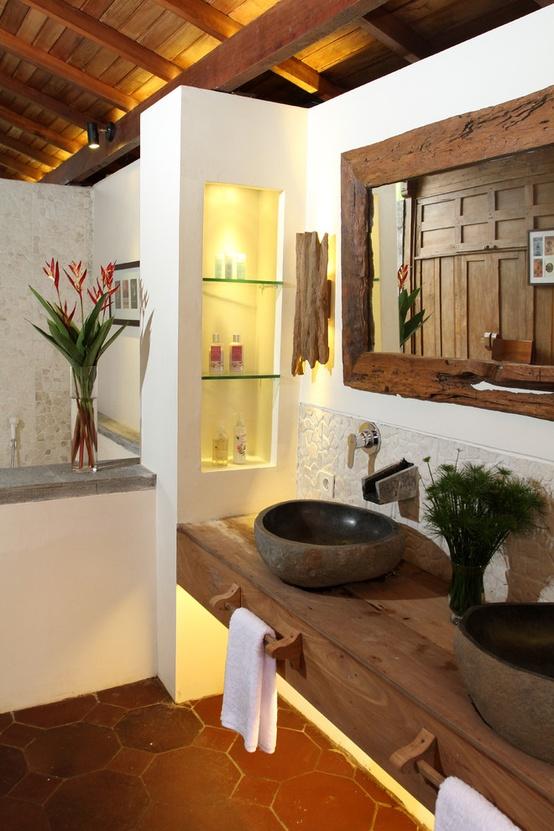 45 Stylish And Cozy Wooden Bathroom Designs - DigsDigs on Remodel:ll6Wzx8Nqba= Small Kitchen Ideas  id=40009