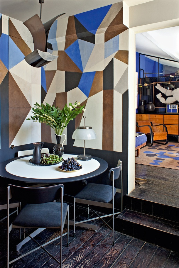 24 Stylish Geometric Wall Décor Ideas - DigsDigs