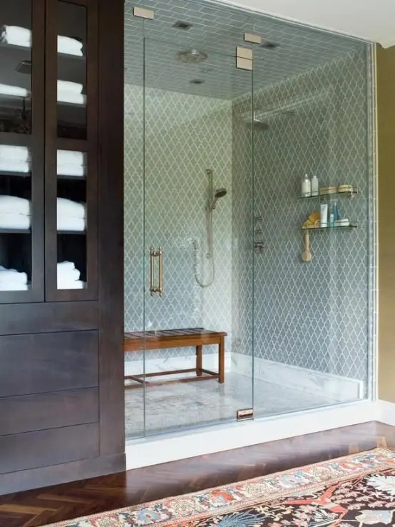 Subway tile is most commonly recognized as the 3 x 6 inch white ceramic tiles used on the walls of the new york city subway in the early 20th century. A Bit Of Luxury: 35 Stylish Steam Rooms For Homes - DigsDigs