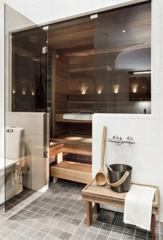 A Bit Of Luxury: 35 Stylish Steam Rooms For Homes - DigsDigs on Teenage:rfnoincytf8= Room Designs  id=56256