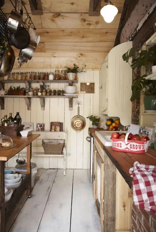 38 Super Cozy And Charming Cottage Kitchens - DigsDigs on Rustic:1Gdhjdx6F3G= Farmhouse Kitchen  id=46775