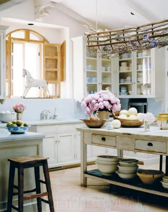 38 Super Cozy And Charming Cottage Kitchens - DigsDigs on Rustic:rkh3E0Gkuju= Farmhouse Kitchen Ideas  id=58910