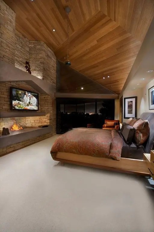 27 Super Cozy And Comfy Bedrooms With A Fireplace - DigsDigs on Comfy Bedroom  id=26626