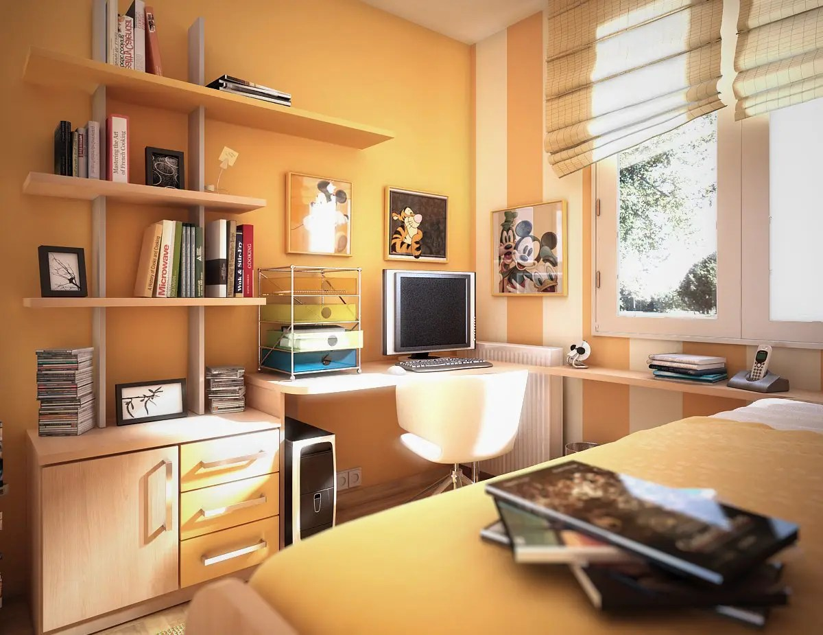 17 Cool Teen Room Ideas - DigsDigs on Small Bedroom Ideas For Teens  id=58399