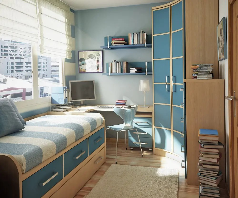17 Cool Teen Room Ideas - DigsDigs on Teenage Bedroom Ideas  id=37783