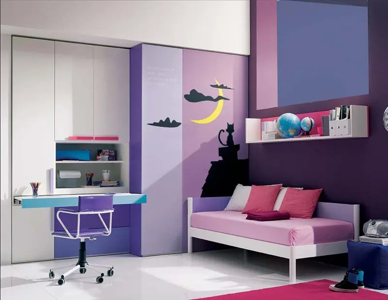 13 Cool Teenage Girls Bedroom Ideas - DigsDigs on Cool Bedroom Ideas For Small Rooms  id=41026