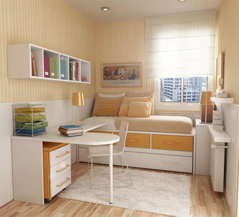 50 Thoughtful Teenage Bedroom Layouts | DigsDigs on Teenage Small Bedroom Ideas  id=90646