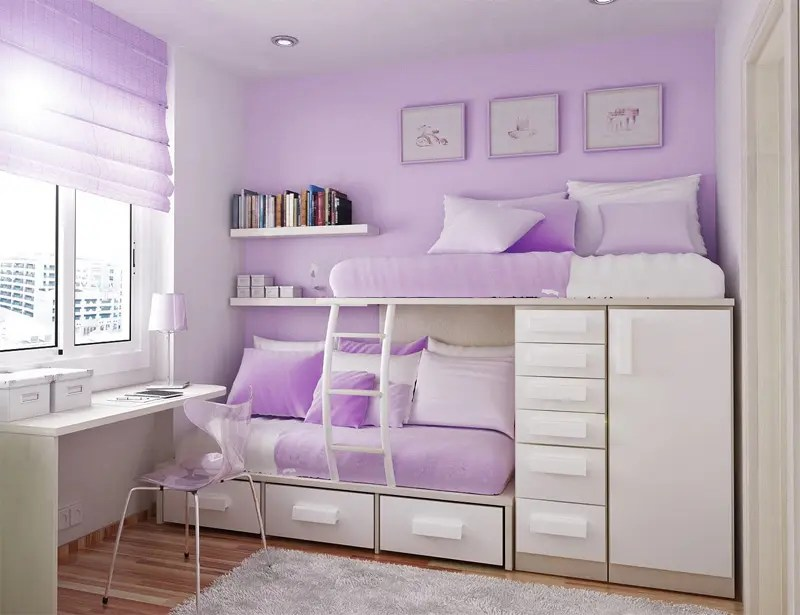 50 Thoughtful Teenage Bedroom Layouts | DigsDigs on Teenage Small Bedroom Ideas  id=72647