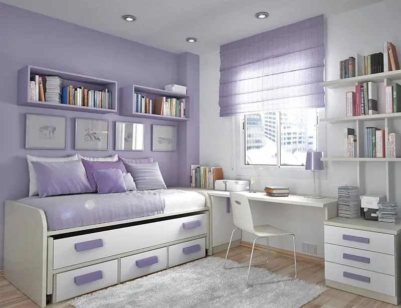 50 Thoughtful Teenage Bedroom Layouts | DigsDigs on Small Bedroom Ideas For Teenager  id=44052