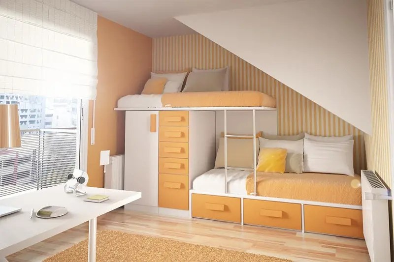 50 Thoughtful Teenage Bedroom Layouts | DigsDigs on Teenage Small Room Ideas  id=59464