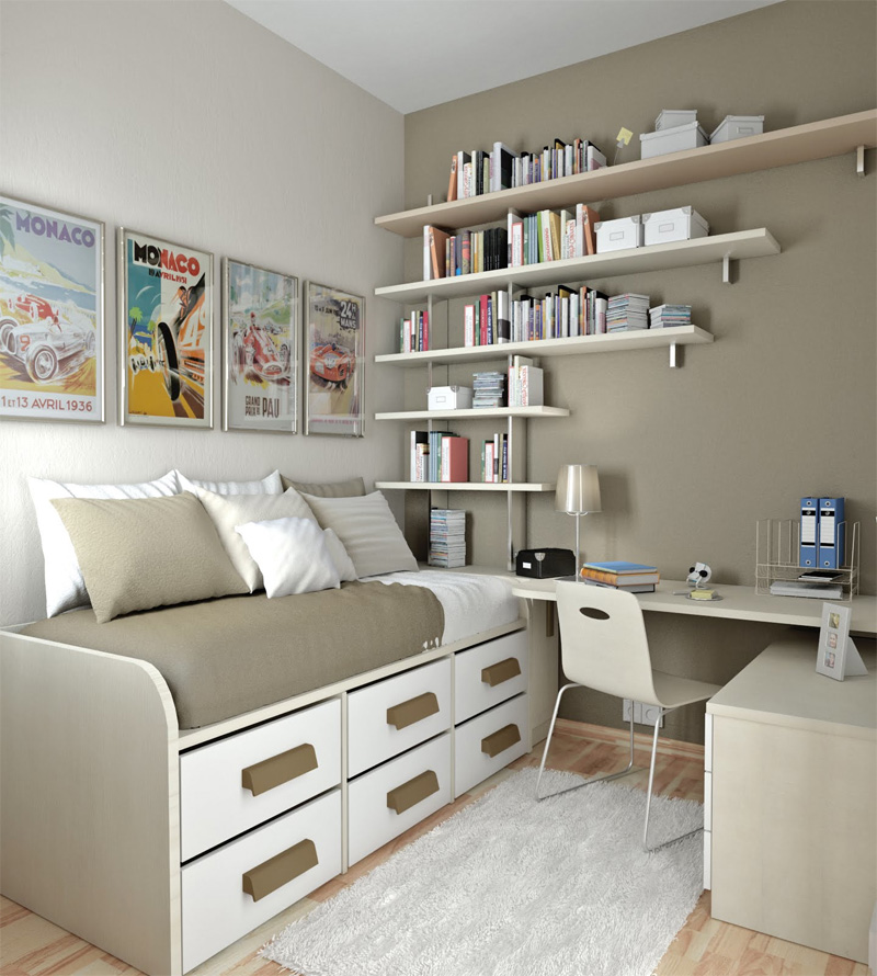 50 Thoughtful Teenage Bedroom Layouts | DigsDigs on Teenage Small Bedroom Ideas  id=50132